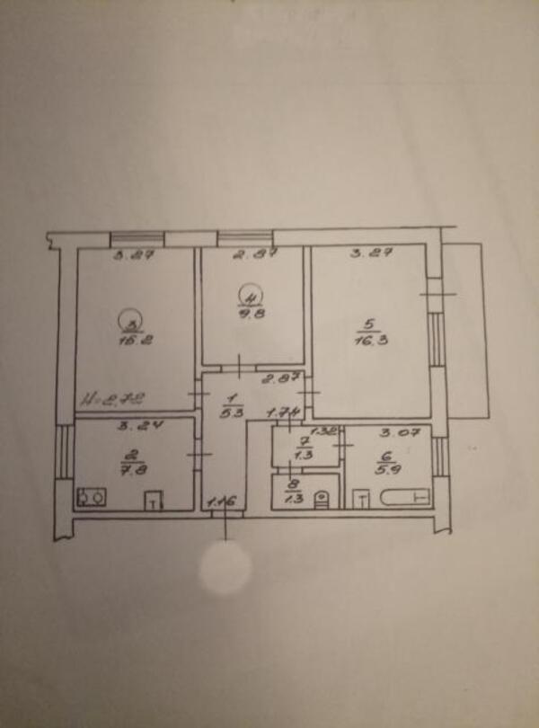 3 комнатная квартира, Харьков, Южный Вокзал, Евгения Котляра (Красноармейская) (121974 1)
