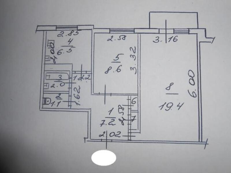 2 комнатная квартира, Харьков, ХТЗ, Северина Потоцкого пер. (17 Партсъезда пер.) (253972 1)