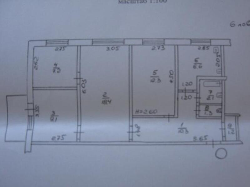 2 комнатная квартира, Харьков, Павлово Поле, Науки проспект (Ленина проспект) (262735 1)