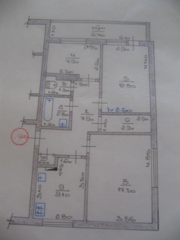 3 комнатная квартира, Лукьянцы, Победы ул. (Красноармейская), Харьковская область (285140 1)