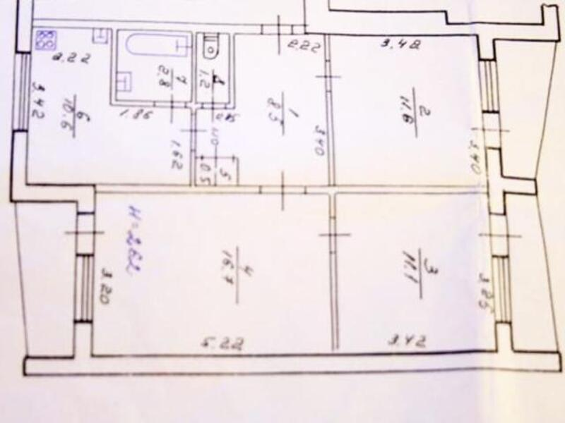 3 комнатная квартира, Харьков, Северная Салтовка, Леся Сердюка (Командарма Корка) (285756 1)