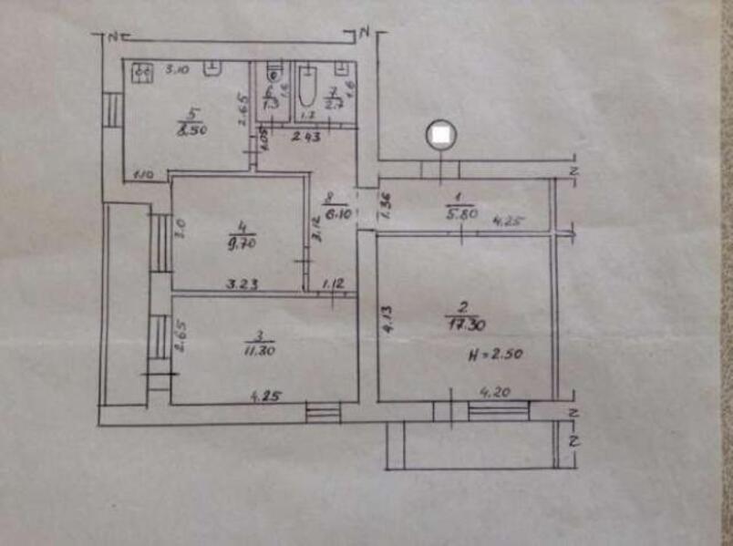 3 комнатная квартира, Харьков, ОДЕССКАЯ, Гагарина проспект (297241 1)
