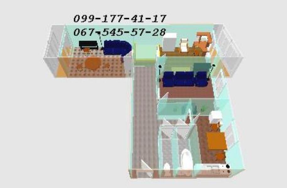 3 комнатная квартира, Харьков, Алексеевка, Победы пр. (307834 1)