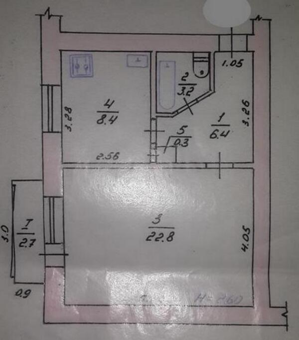 1 комнатная квартира, Змиев, Донецкое шоссе, Харьковская область (312457 1)