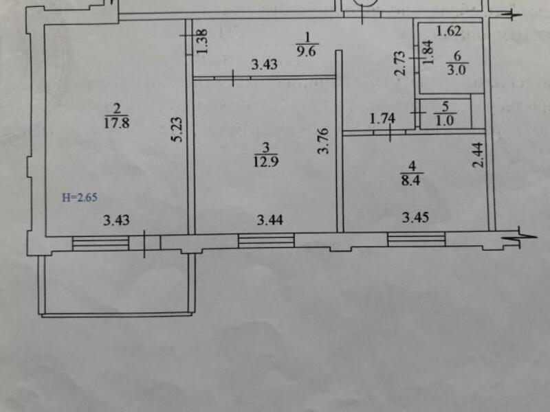 3 комнатная квартира, Харьков, Алексеевка, Победы пр. (321171 1)