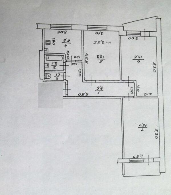 3 комнатная квартира, Харьков, Салтовка, Барабашова (347616 1)
