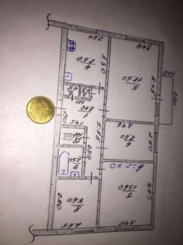 2 комнатная квартира, Дергачи, Центральная (Кирова, Ленина), Харьковская область (361714 1)