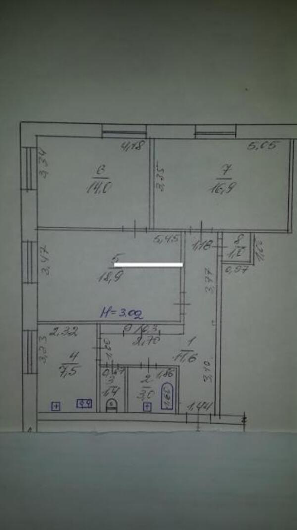 3 комнатная квартира, Харьков, ШАТИЛОВКА, Науки проспект (Ленина проспект) (362339 1)