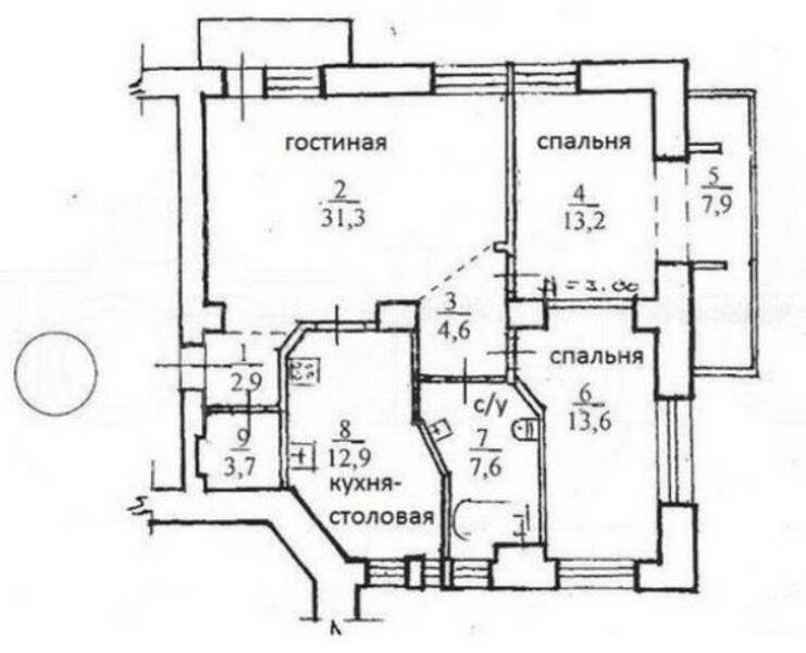 Квартира, 3-комн., Харьков, Нагорный, Мироносицкая