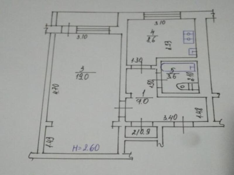 1 комнатная квартира, Харьков, ХТЗ, Александровский пр. (Косиора пр.) (396915 1)