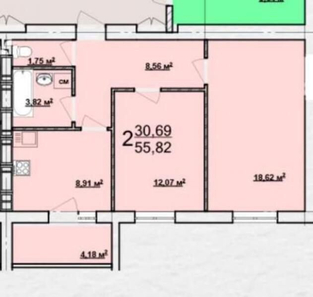 1 комнатная квартира, Харьков, Новые Дома, Стадионный пр зд (398065 1)