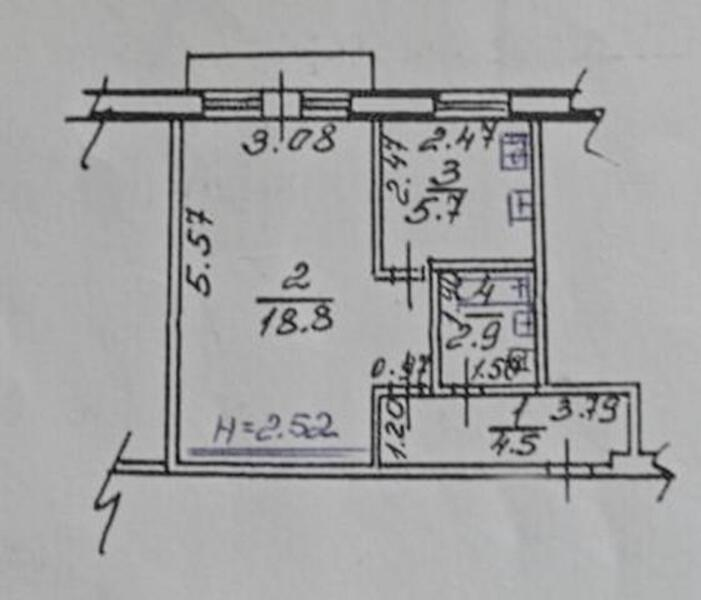 2 комнатная квартира, Харьков, Артема поселок, Ковтуна (402183 2)
