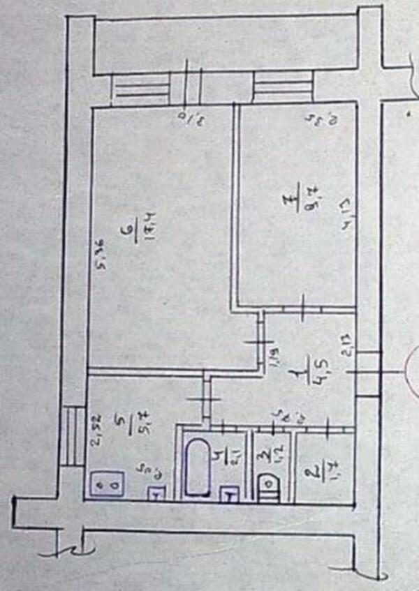 2 комнатная квартира, Харьков, ОДЕССКАЯ, Зерновая (Совхозная 1 19) (421503 1)
