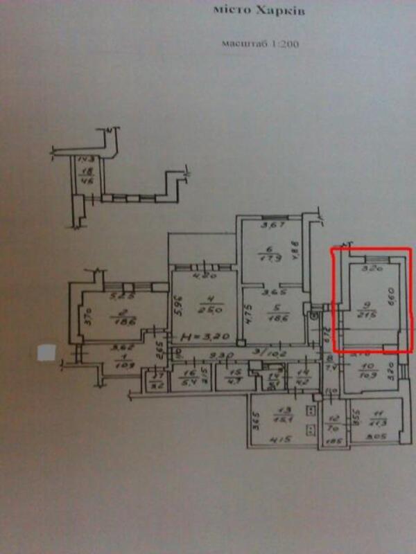 1 комнатная гостинка, Харьков, Павлово Поле, 23 Августа (Папанина) (423379 1)