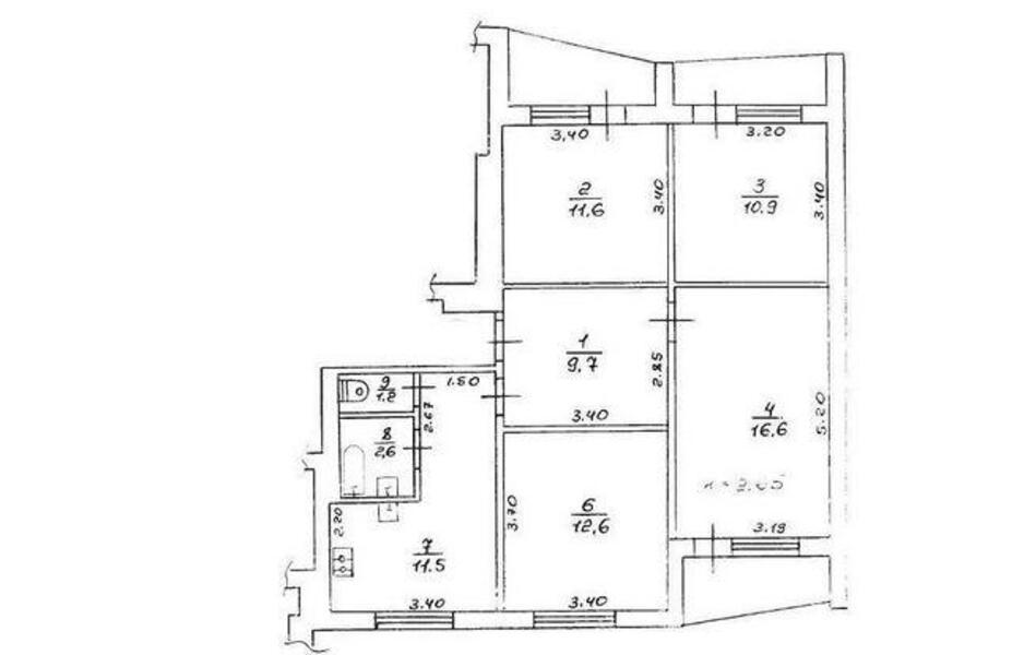 3 комнатная квартира, Харьков, Восточный, Мира (Ленина, Советская) (429961 2)