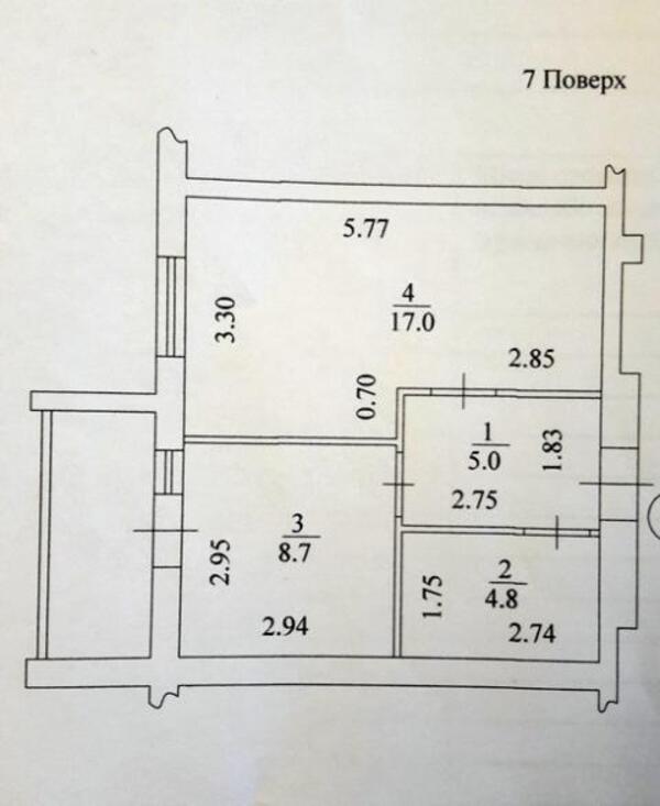 квартиру, 1 комн, Харьков, Салтовка, Тракторостроителей просп. (431017 2)