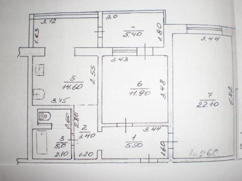 1 комнатная квартира, Харьков, Алексеевка, Победы пр. (432536 1)