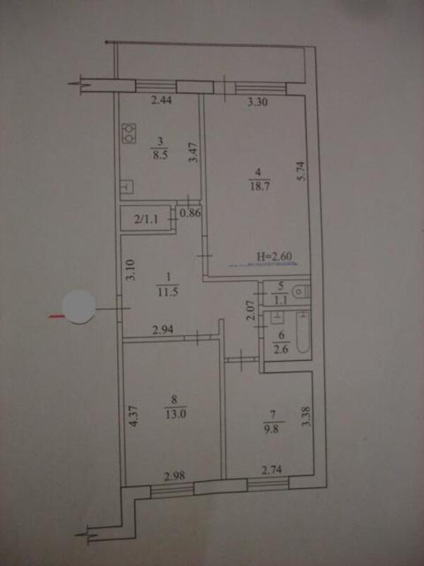 3 комнатная квартира, Харьков, ОДЕССКАЯ, Гагарина проспект (439385 1)