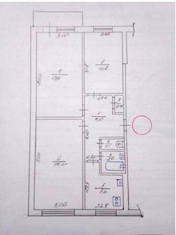 2 комнатная квартира, Харьков, Салтовка, Светлая (Воровского, Советская, Постышева, ленина. 50 лет Октября) (441162 3)