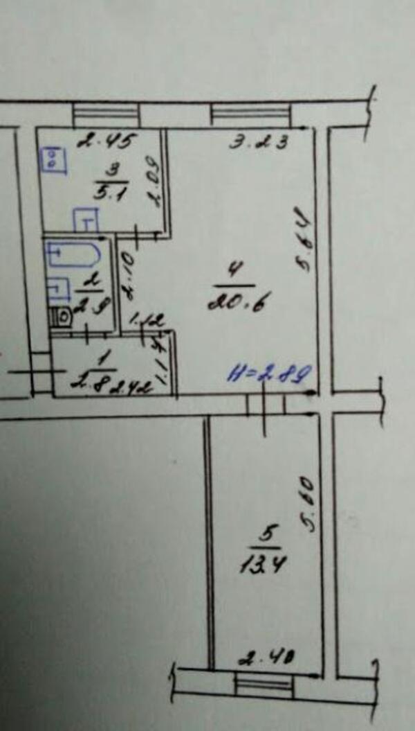 2 комнатная квартира, Харьков, ХТЗ, Индустриальный просп. (Фрунзе проспект) (442750 1)