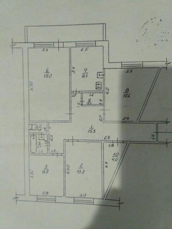 3 комнатная квартира, Харьков, Салтовка, Светлая (Воровского, Советская, Постышева, ленина. 50 лет Октября) (445338 1)