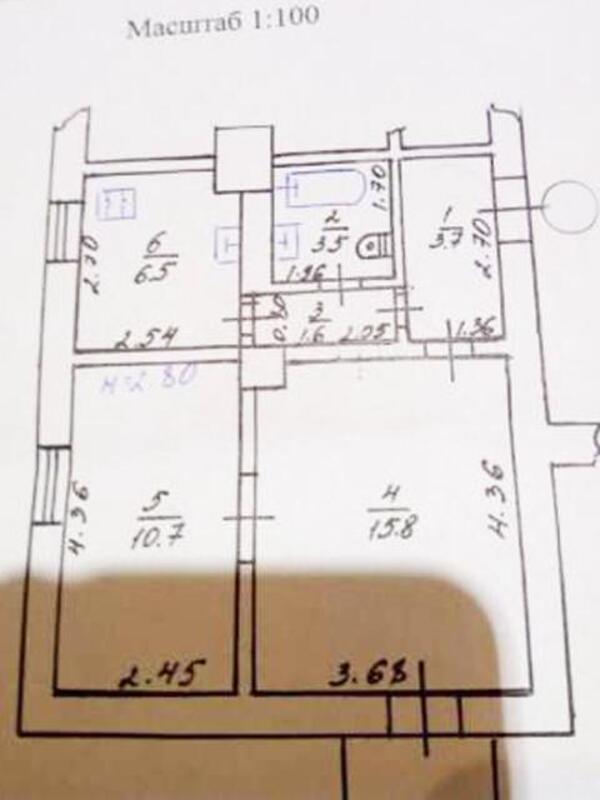 2 комнатная квартира, Харьков, ХТЗ, Индустриальный просп. (Фрунзе проспект) (448286 1)