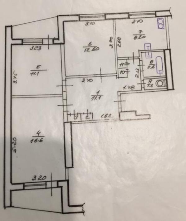 3 комнатная квартира, Харьков, Салтовка, Тракторостроителей просп. (448811 1)