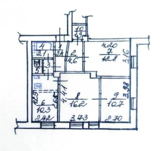 3 комнатная квартира, Харьков, Салтовка, Героев Труда (452754 1)