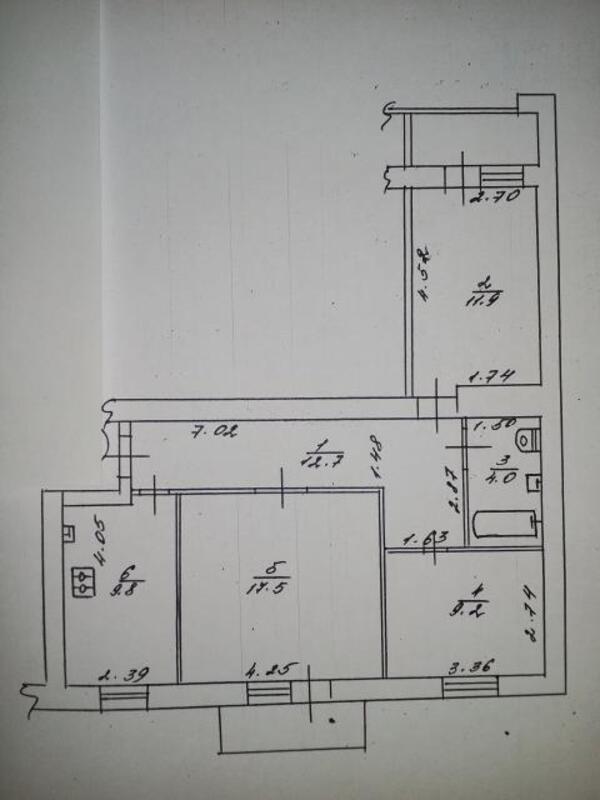 3 комнатная квартира, Харьков, Салтовка, Краснодарская (454521 1)