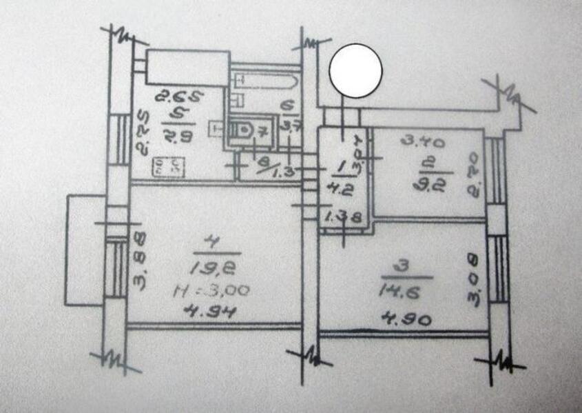 3 комнатная квартира, Харьков, НАГОРНЫЙ, Потебни (455363 2)