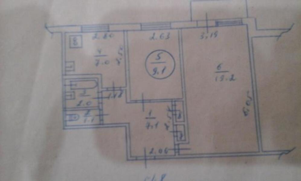 1 комнатная гостинка, Харьков, Салтовка, Амосова (Корчагинцев) (458545 1)
