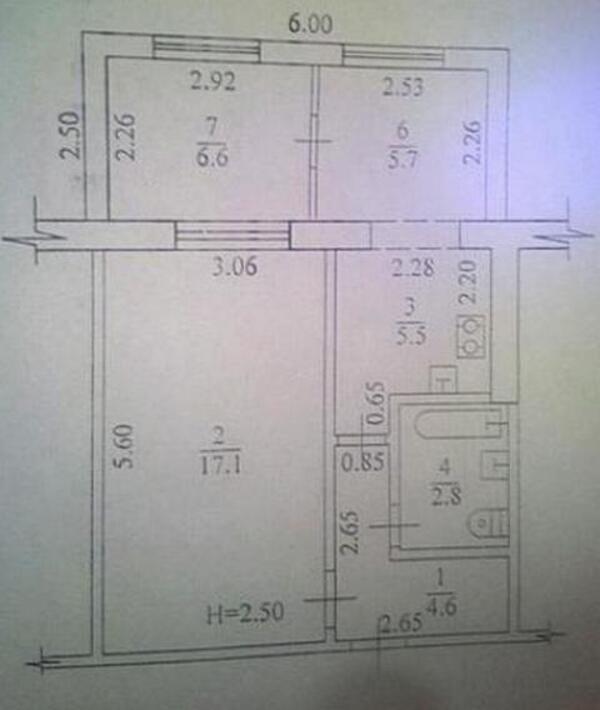 2 комнатная квартира, Харьков, Салтовка, Тракторостроителей просп. (458619 2)