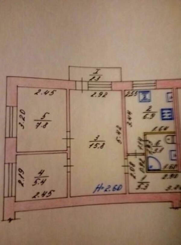 2 комнатная квартира, Борки, Харьковская область (458734 1)