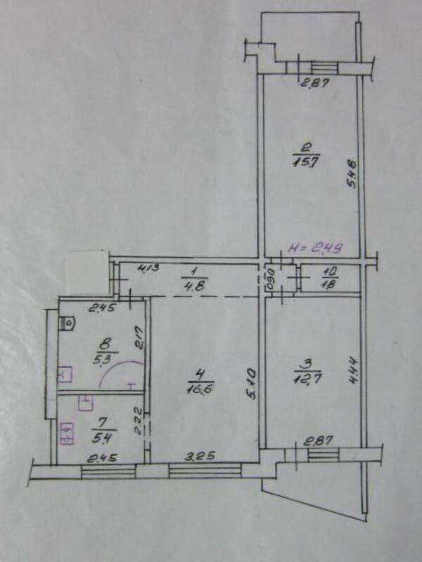 2 комнатная квартира, Харьков, Павлово Поле, Науки проспект (Ленина проспект) (458841 1)