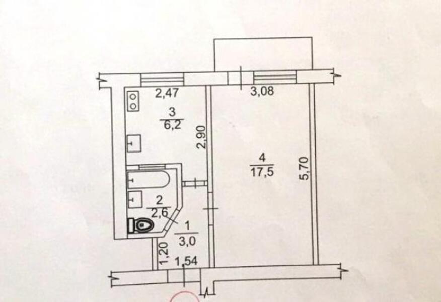 1 комнатная квартира, Харьков, Новые Дома, Московский пр т (460121 2)