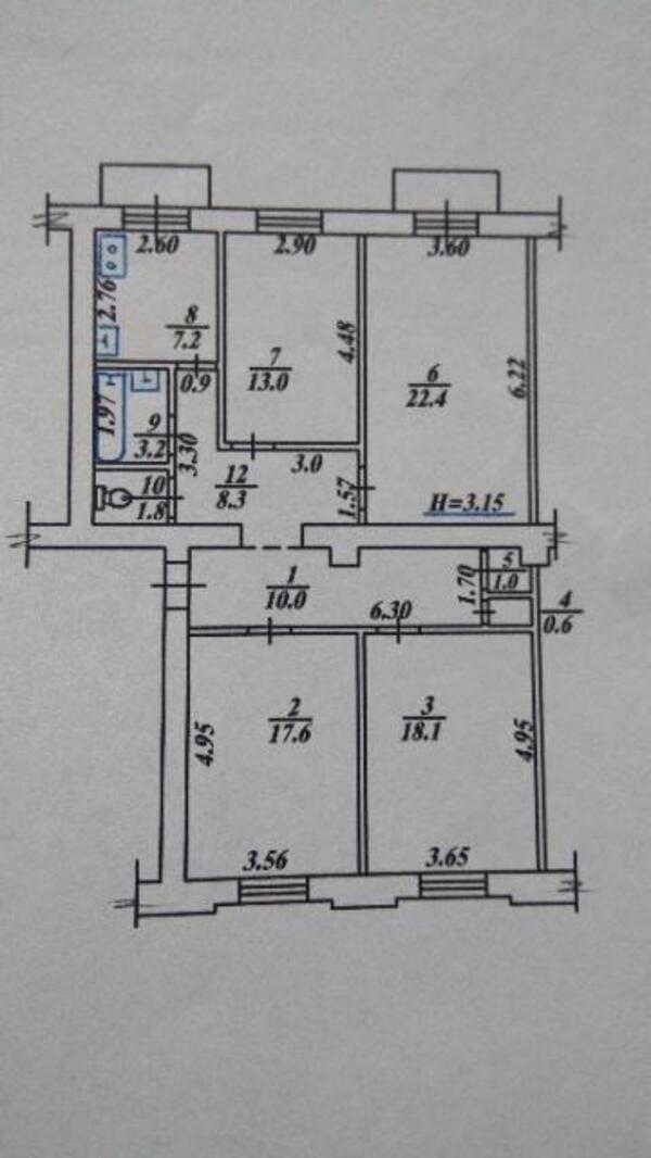 5 комнатная квартира, Харьков, Новые Дома, Снегиревский пер. (461624 6)