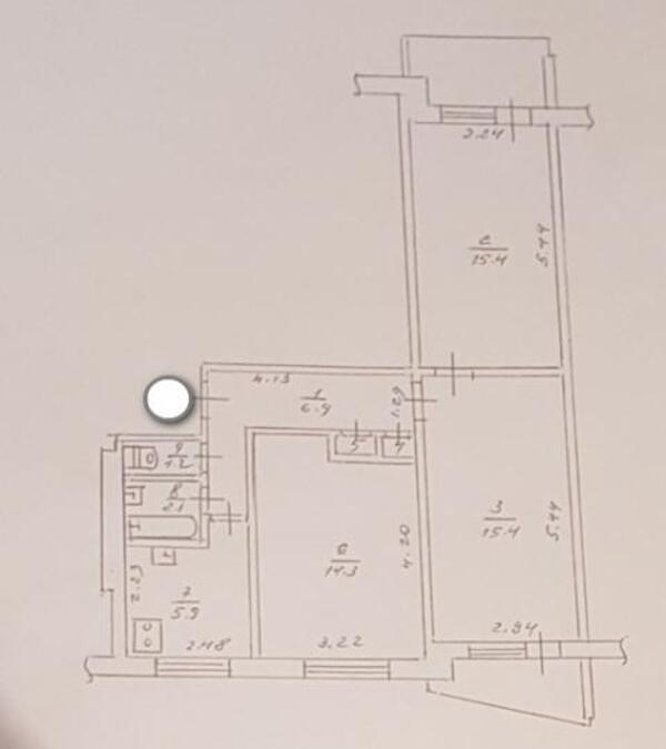3 комнатная квартира, Харьков, Салтовка, Героев Труда (462035 2)