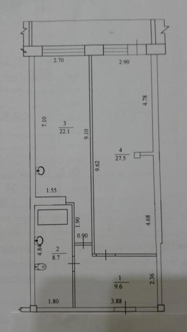 3 комнатная квартира, Змиев, Харьковская область (463244 1)