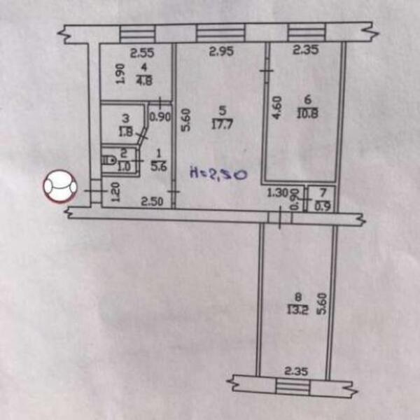1 комнатная квартира, Харьков, Бавария, Л. Малой пр. (Постышева пр.) (464430 1)