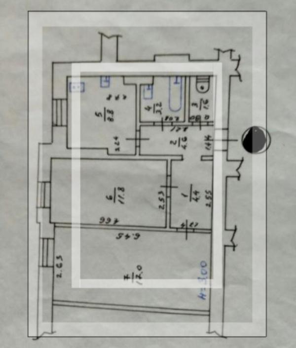 2 комнатная квартира, Харьков, НАГОРНЫЙ, Студенческая (467225 1)