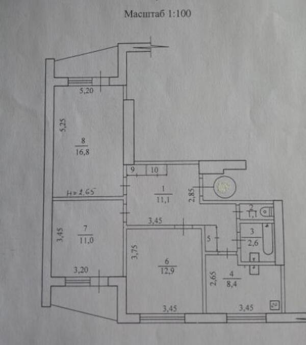 4 комнатная квартира, Харьков, Салтовка, Героев Труда (467247 1)