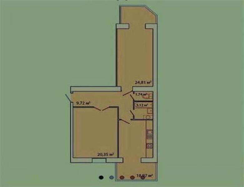 1 комнатная квартира, Харьков, Павлово Поле, 23 Августа (Папанина) (467268 1)