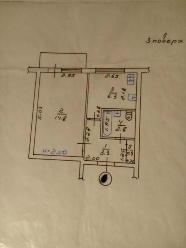 квартиру, 2 комн, Харьков, Павлово Поле, 23 Августа (Папанина) (467730 1)