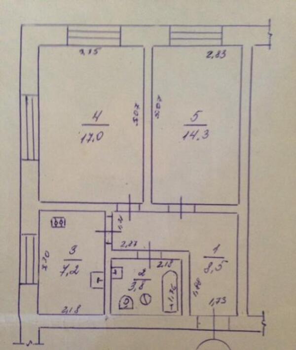 1 комнатная квартира, Харьков, Салтовка, Гвардейцев Широнинцев (467884 1)