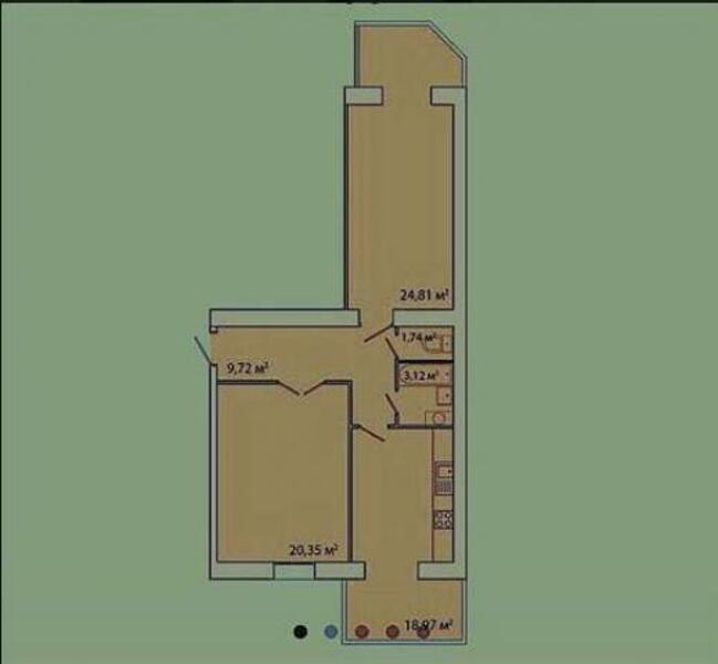 2 комнатная квартира, Харьков, ПАВЛОВКА, Мирная (468993 1)