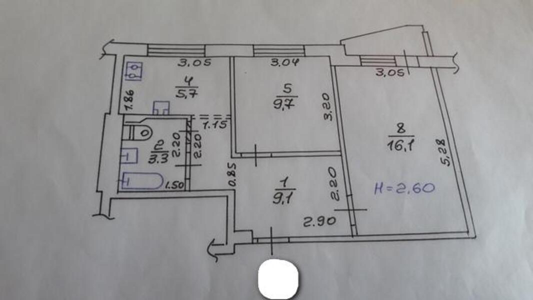 3 комнатная квартира, Харьков, Алексеевка, Победы пр. (469944 1)