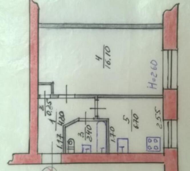 1 комнатная квартира, Покотиловка, Интернациональная, Харьковская область (469999 1)