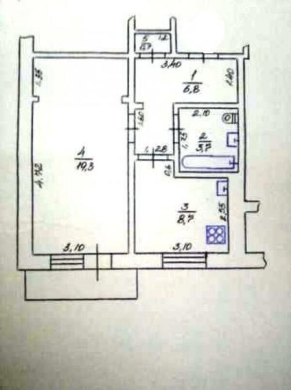 1 комнатная квартира, Харьков, Новые Дома, Ньютона (470285 1)