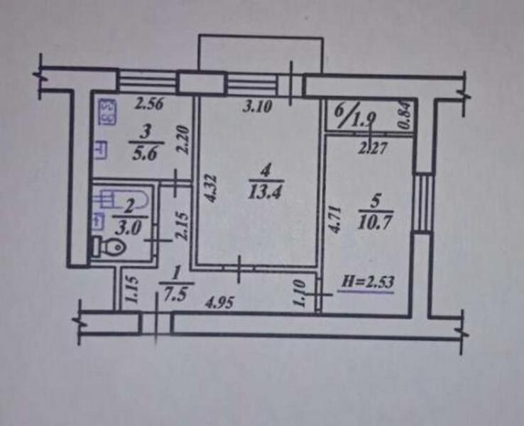 2 комнатная квартира, Харьков, Павлово Поле, Сумгаитская (470729 1)