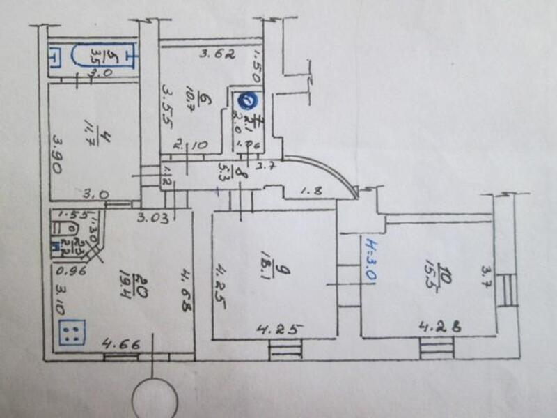 4 комнатная квартира, Харьков, МОСКАЛЁВКА, Украинская (471720 1)